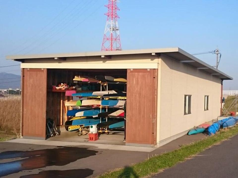 艇庫を建ててもらいました!