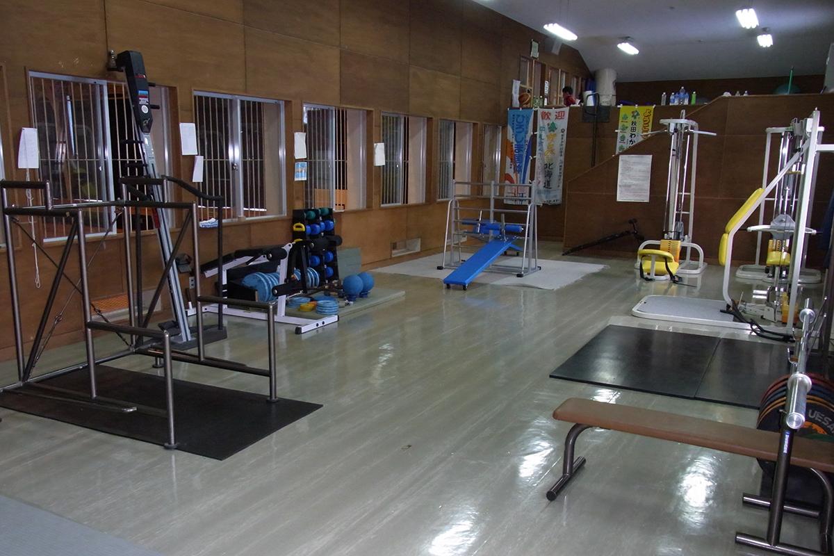 冬期の主な活動場所 本校トレーニング室