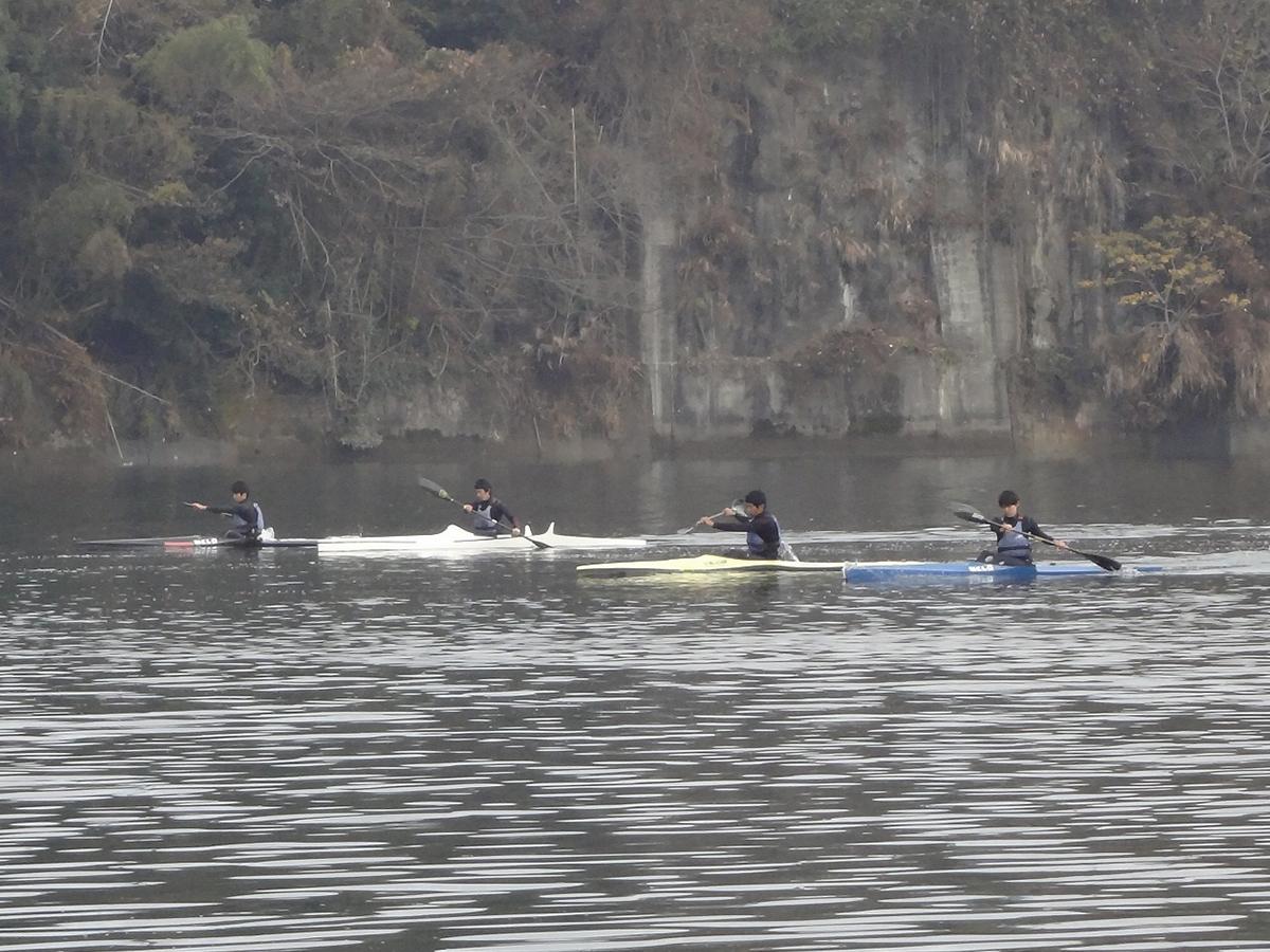 冬場の水上練習2